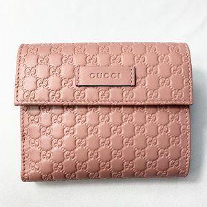 Gucci GG Microguccissima Card Case Snap Wallet